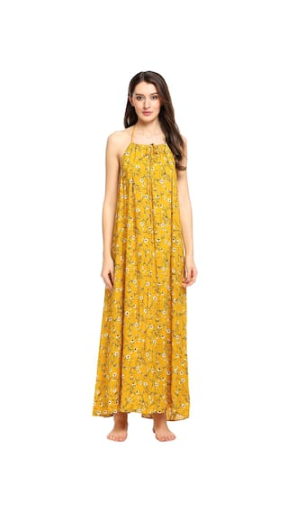 Halter Maxi Sleeveless Looe Dress Backless Women Floral 16q4wx