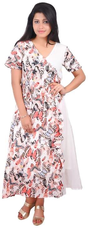 RIVI Multi Floral Fit & flare dress