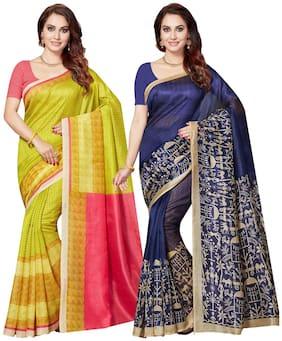 Women Mutli Bhagalpuri Art Silk Saree