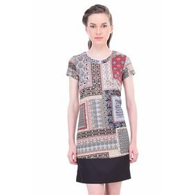 Women paisley shift dress