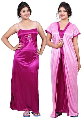 Ajira Purple & Pink Nighty with Robe