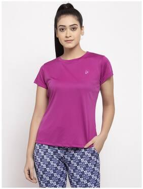 Women Regular Fit Polyester Sports T-Shirts