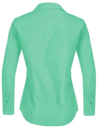 Button Betterlife Slim Green Solid Down Women's Career Shirt Basic Long Sleeve xXgqF04rgw