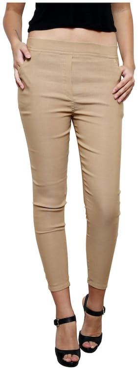 Nagru Women Beige Relaxed fit Jeans