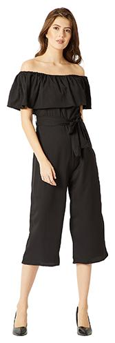 Miss Chase Solid Jumpsuit - Black