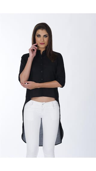 Women's Black Assy Solid shirt