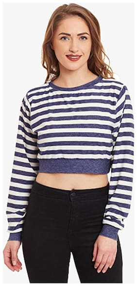 Women Striped High Neck Top ,Pack Of 1