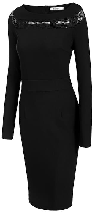 Net Evening Neck Bodycon Women's Boat Long Dress Sleeve Patchwork Party pcYHI5qH