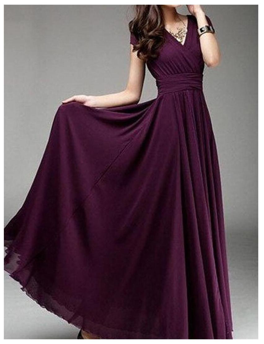 Dark Purple Maxi Dress