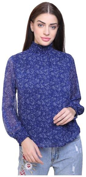 UVR Women Polka dots Regular top - Blue