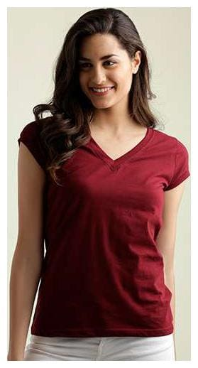 Miss Chase Women Solid A-line top - Maroon