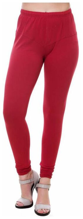Mr.Taylorz Cotton Lycra Maroon Leggings