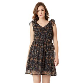 Miss Chase Floral A-line dress Dress - Multi