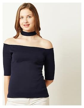 Women Geometric Off-Shoulder Top