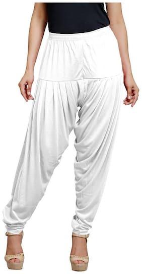 BRAND FLEX Women Regular Fit High Rise Solid Jegging - White