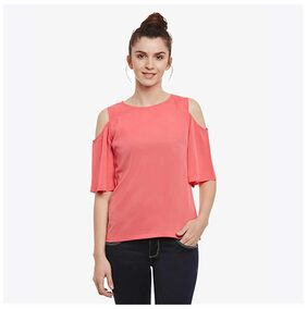 Miss Chase Women Solid Regular top - Pink