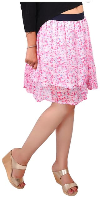 RIVI Solid Skorts Mini Skirt - Pink