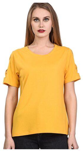 Women's Round Neck Half Sleeves Cotton Blend Top / T-Shirt  TW13 Y