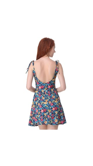Printed Sleeveless Women'S Casual Flower Mini Floral Style Store Dress LL vwvTFn5qd