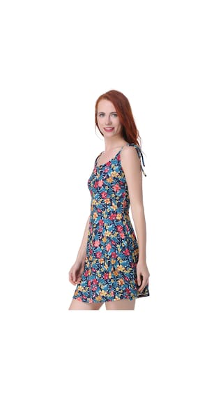 Flower Printed LL Store Sleeveless Floral Dress Style Casual Mini Women'S ESqxRZBnZ
