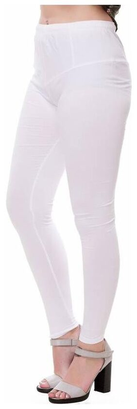 Mr.Taylorz Cotton Lycra White Leggings