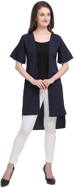 Women Serein Navy Navy Blue Polyester Casual Shrug
