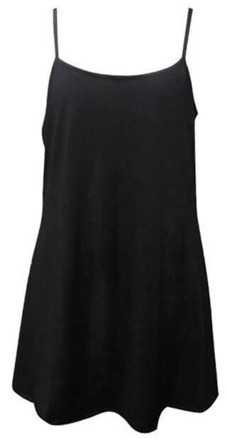 Women Sexy Backless Sleeveless Strap Swing Mini Dress L
