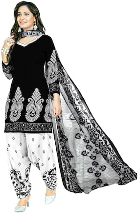 525e0e77b8 Women Shoppee Crepe Printed Dress Material for Kurta, Bottom & Dupatta -  Multi