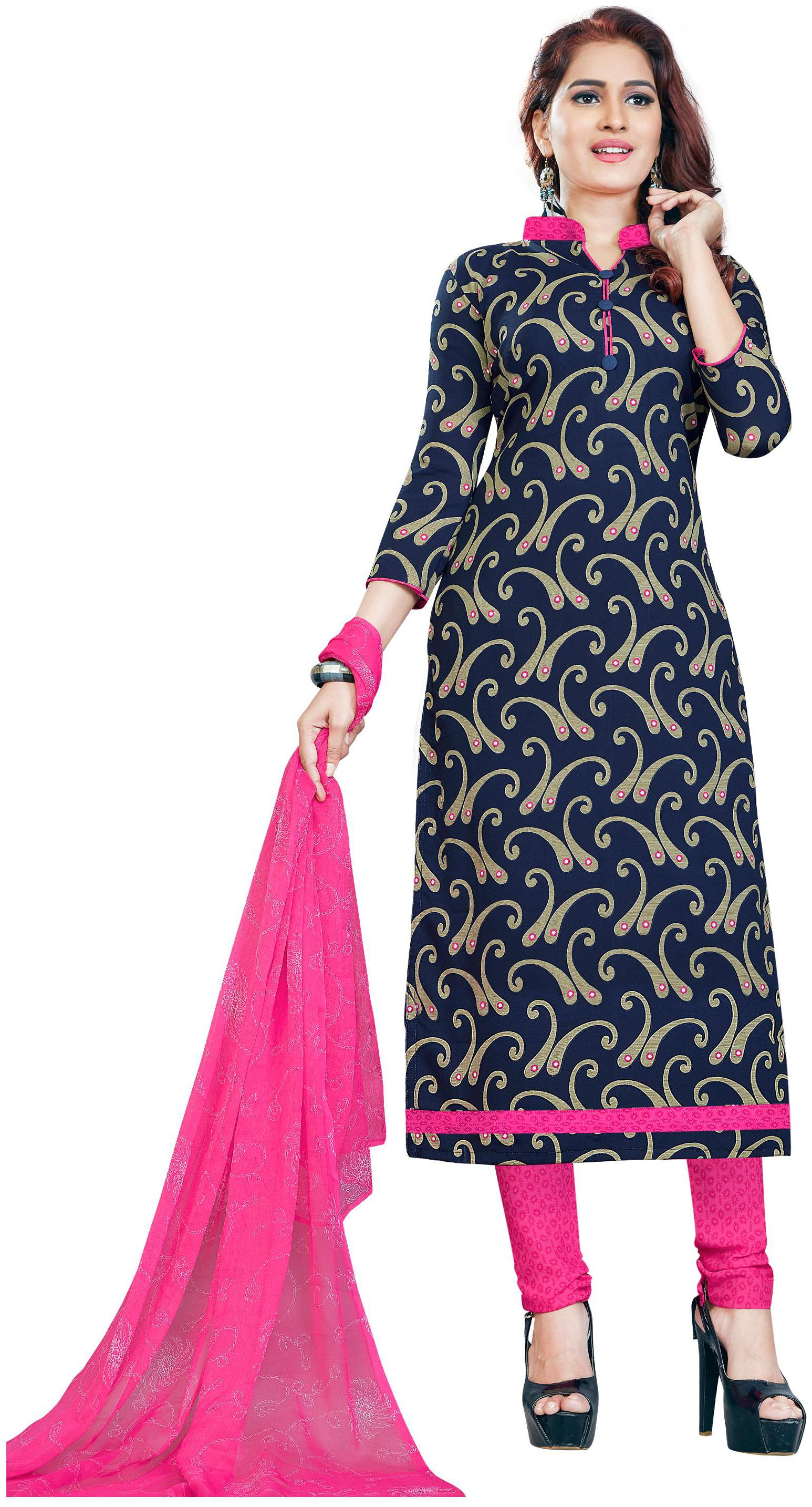 Women Shoppee's Stylish Synthetic Salwar Suit Dupatta   Unstiched Dress Material