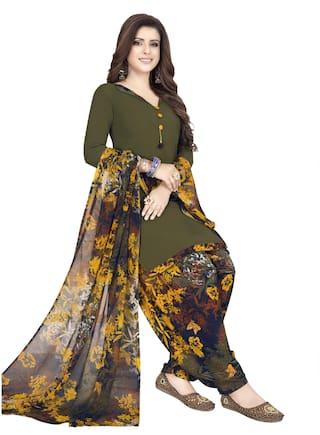 Women Shoppee Multi Unstitched Kurta with bottom & dupatta With dupatta Dress Material