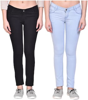 Women Relaxed Fit Jeans Pack Of 2
