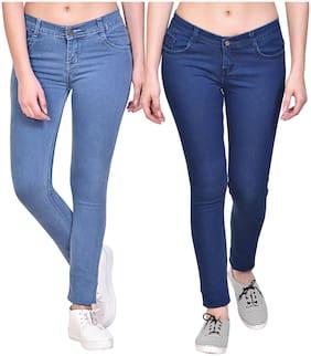 NJ's Women Blue & Navy Straight fit Jeans