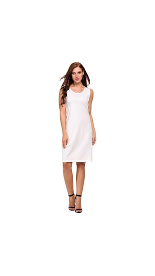 Lace Dress Sleeveless Up Line A Solid Tank Casual Women wEqO7