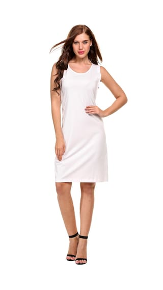 Lace Solid Up Line A Women Sleeveless Tank Dress Casual Zw616zq