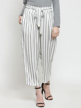 Women Striped Print Trouser