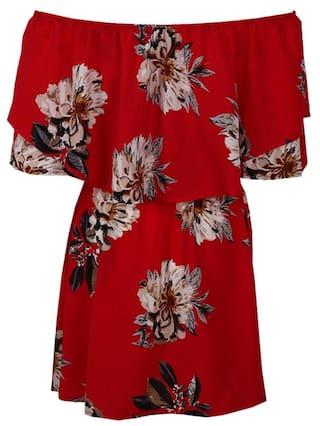 Peint Off Women Sleeveless Casual Dress Floral Shoulder Dress S Summer RBRqaxY