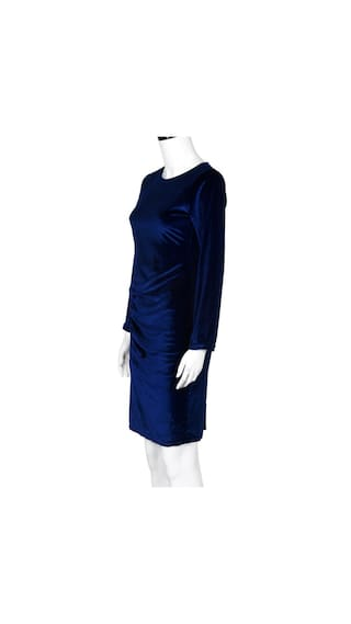 Women Casual Sleeve Evening BU Dress Party Dress S Velvet Mini Long HfqHw4B