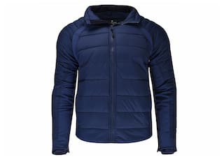Woodland Men Blue Solid Quilted jacket