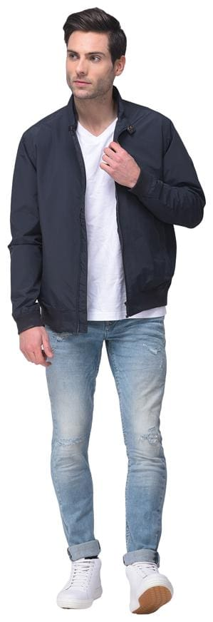 Woodland Men Navy blue Solid Quilted jacket