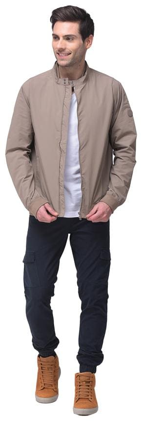 Woodland Men Grey Solid Quilted jacket