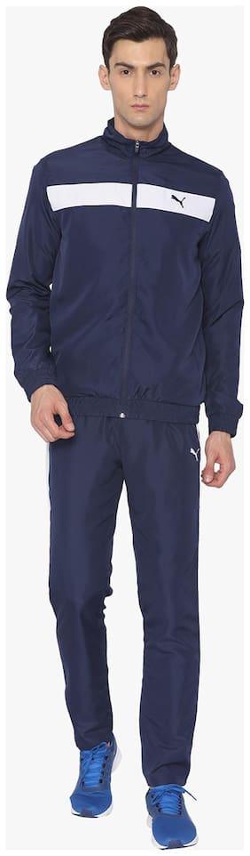 Puma Men Polyester Blend Track Suit - Blue