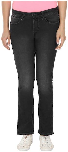 Wrangler Women Regular Fit Mid Rise Printed Jeans - Black