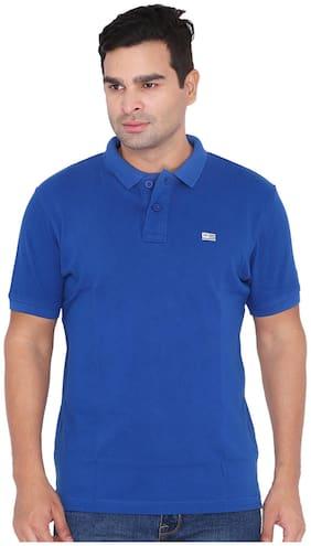 Men Polo Collar Solid T-Shirt