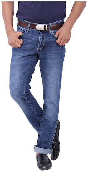 Men Regular Fit High Rise Jeans