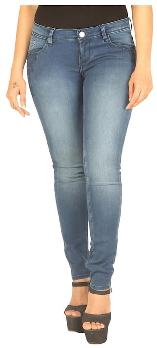 Fit Molly Wrangler Jeans Rise Blue Slim Low qaw7IaY