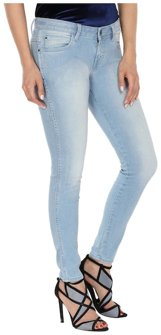 Fit Jeggings Blue Low Jeans Skinny Rise Wrangler HYI7Pqww