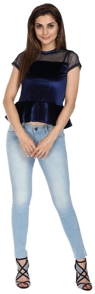 Wrangler Low Jeggings Rise Blue Jeans Fit Skinny prp5q