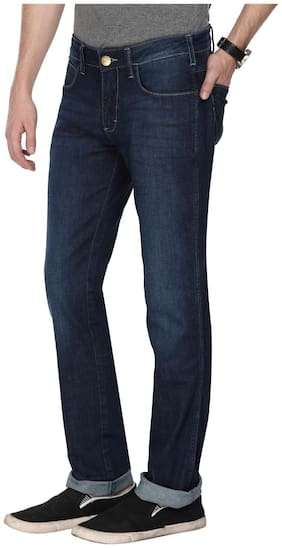 Men Straight Fit High Rise Jeans