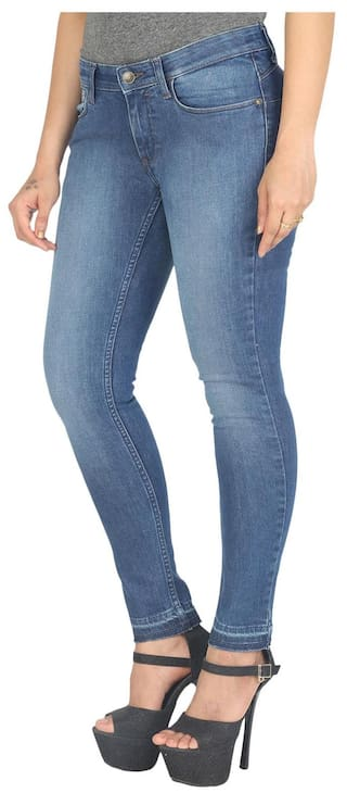 Slim Jeans Blue Fit Low Jane Rise Wrangler 6XtwqA6