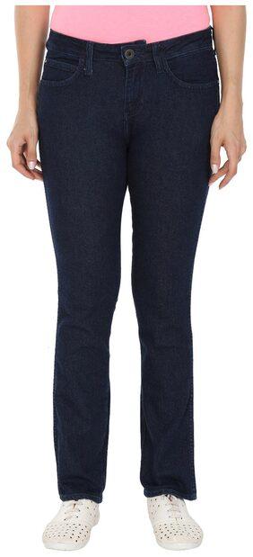 Wrangler Women Regular Fit Mid Rise Solid Jeans - Blue